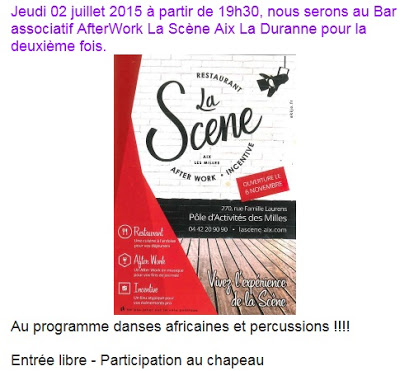 la scene animation danse et percussion africaine